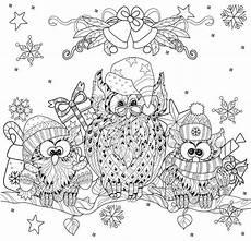 Ausmalbilder Eule Weihnachten Owl On Tree Branch With Small Owls Stock Vector