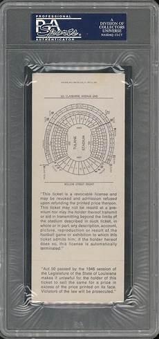ticket bid lot detail 1970 bowl iv ticket black