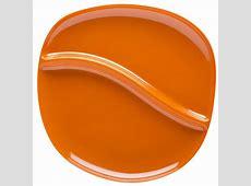Bamboo Divided Dinner Plates for sale   Orange   Zak!Style