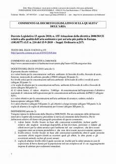 diritto ambientale dispense commento al nuovo dlgs 2010 qualit 224