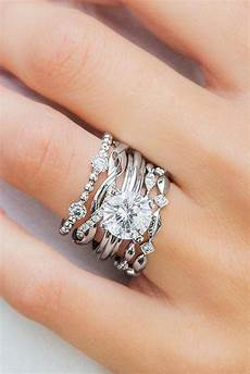best stackable wedding rings more rings more shine