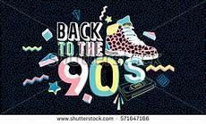 back to the 90 social media sign logo symbol post stock vector 209861368