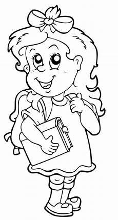 kostenlose malvorlage schule sch 252 lerin mit einem buch zum