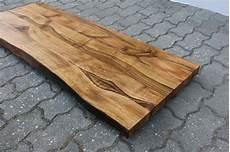 waschtisch tischplatte platte nussbaum massiv holz mit