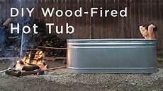 diy wood fired tub