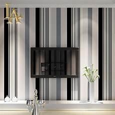 mode schwarz wei 223 grau vertikale gestreifte tapete wohnzimmer sofa wand dekor moderne einfache