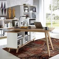 Bureau D Angle Blanc Design Bois Au Style Scandinave Chez