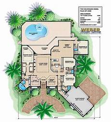 mediterranean house plans with pools mediterranean house plan coastal home floor plan with
