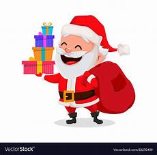 merry christmas funny santa claus royalty free vector image