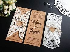 kraft brown rustic card doily lace paper white