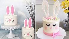 Kuchen Verzieren Ideen - how to make easter bunny cake easy diy cake decorating