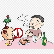 Gambar Ilustrasi Orang Merokok Hilustrasi