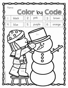 color by number winter coloring sheets 18159 winter color by code for kindergarten color by number color by sight word sight words