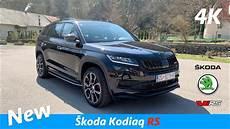 škoda kodiaq rs 2019 look in 4k exhaust sound