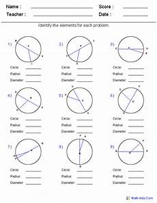 circle geometry word problems worksheets 1005 geometry worksheets circle worksheets