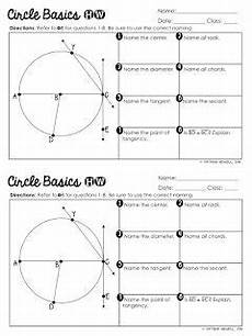 geometry worksheets circles high school 653 free circle basics worksheet special education math secondary math classroom high school