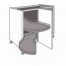 meuble d angle cuisine meuble de cuisine d angle bas avec 2 plateaux lemans zen cuisine