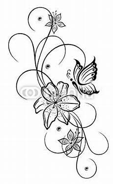Malvorlagen Gratis Lilien Vector Lilien Lilie Ranke Blumen Bl 252 Ten Flora