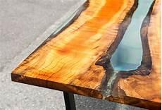 anleitung epoxidharz tisch aus holz selber machen