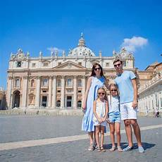 happy family at st s basilica church in vatican