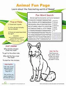 animal science worksheets for high school 14040 with fantastic foxes school fox facts for cool pets cing activities for