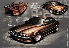 bmw e32 750i bmw e32 750i client custom design on behance