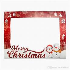 2020 diy photo frame christmas paper photo booth props merry christmas picture selfie frame