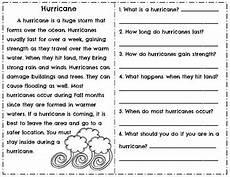 weather reading comprehension worksheets 14512 weather reading comprehension passages questions tornado hurricane