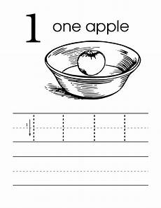 zero worksheets for kindergarten file number 1 one handwriting worksheet pre school level with colour in apple in a bowl svg