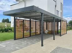 carport aluminium flachdach carport aus metall mit rhombus wandelementen im modernen