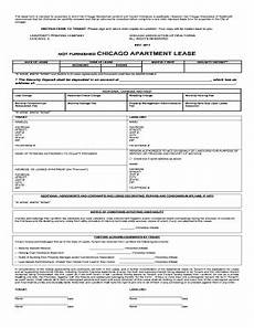 chicago apartment lease unfurnished fill online printable fillable blank pdffiller