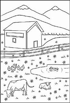 Ausmalbilder Haus Mit Baum Bauernhof Kostenlose Malvorlagen Und Ausmalbilder Zum