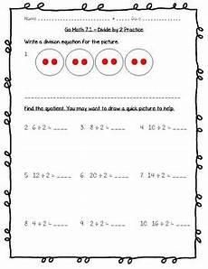 go math practice 3rd grade 7 1 divide by 2 worksheet freebie