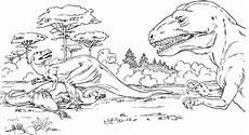 Ausmalbilder Dinosaurier T Rex T Rex Mit Baeumen Ausmalbild Malvorlage Tiere