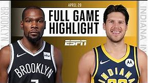 Brooklyn Nets at Indiana Pacers   Full Game Highlights