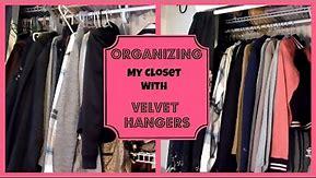 Organizing my Closet with Velvet Hangers │ Huggable Hangers