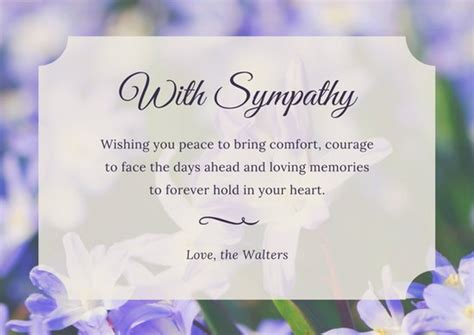 template card for funeral flowers customize 139 sympathy card templates canva