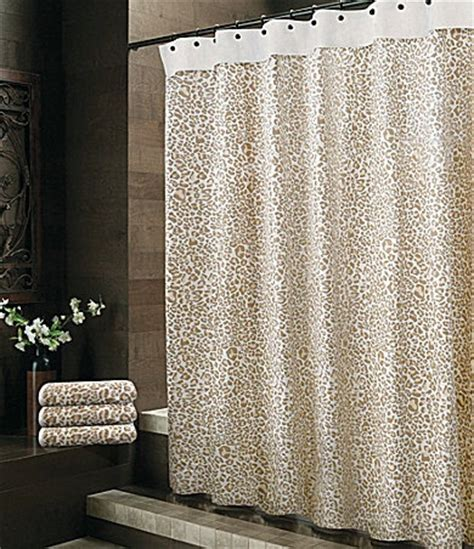 bay linens quot safari quot leopard shower curtain dillards