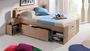 Lit Double Avec Rangement : lit avec tiroirs coulissants photo 8 12 rien de bien nouveau pour ce cadre de lit double ~ Teatrodelosmanantiales.com Idées de Décoration