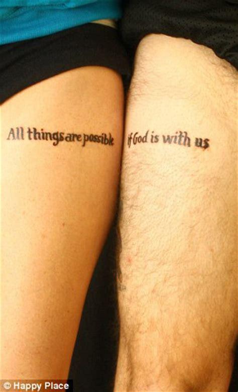 Tatouage Phrase Cuisse Couple