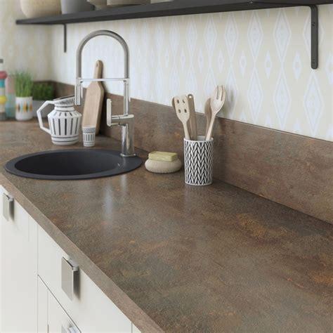 cuisine a prix cassé plan de travail stratifié effet cuivre mat l 315 x p 65 cm
