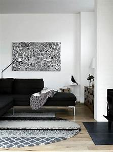 55 idees d ameublement salon en couleurs tendance With tapis de souris personnalisé avec canape scandinave moutarde