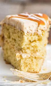 Salted Caramel Cake {From-Scratch Cake with Caramel Frosting}