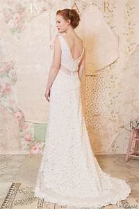 Ivy aster spring 2016 wedding dresses through the for Floral embroidered wedding dress