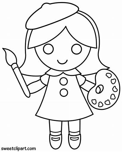 Coloring Artist Clip Sweetclipart