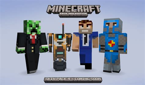fourth skin pack  minecraft xbox  edition coming