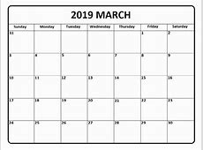 Awesome 30 Illustration Calendarlabs March 2019 Printable