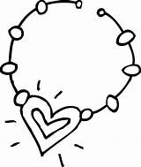 Necklace Coloring Clip Cute Sweetclipart sketch template
