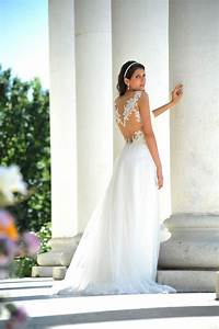 sheer lace back white a line tulle sleeveless destination With destination wedding dresses
