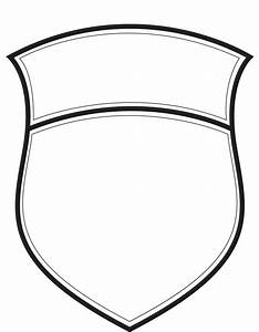blank badge outline pictures to pin on pinterest pinsdaddy With blank police badge template